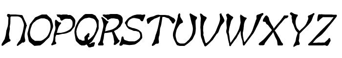 Bart Thin BoldItalic Font UPPERCASE