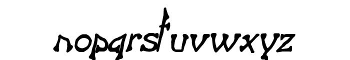 Bart Thin BoldItalic Font LOWERCASE
