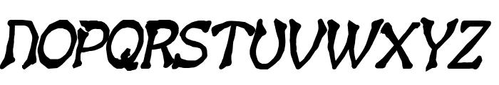 Bart Thin Heavy BoldItalic Font UPPERCASE