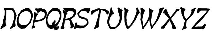 Bart Thin Heavy Italic Font UPPERCASE