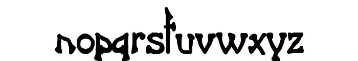 Bart Thin Heavy Normal Font LOWERCASE