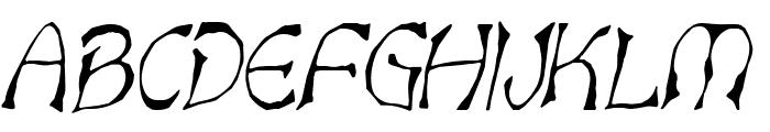 Bart Thin Italic Font UPPERCASE