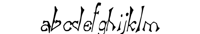 Bart Thin Italic Font LOWERCASE