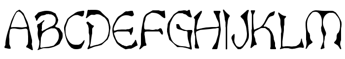 Bart Thin Normal Font UPPERCASE