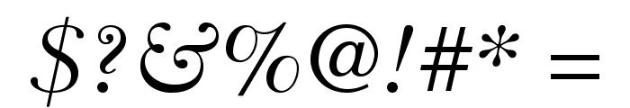 BaskervilleCyrLTStd-Incline Font OTHER CHARS