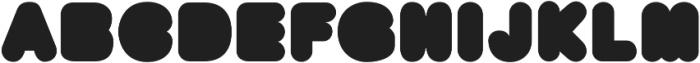 BAQRounded Regular otf (400) Font UPPERCASE