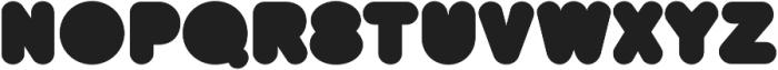 BAQRounded Regular otf (400) Font LOWERCASE