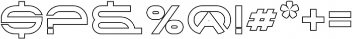 Babylon Outline otf (400) Font OTHER CHARS