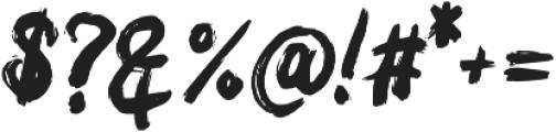 Bacar otf (400) Font OTHER CHARS