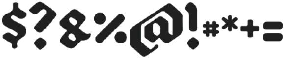 Backyard Black otf (900) Font OTHER CHARS