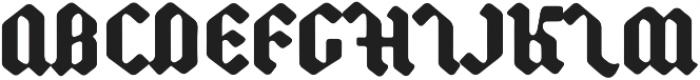 Backyard Black otf (900) Font UPPERCASE