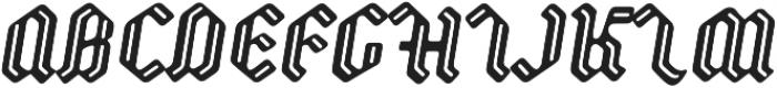 Backyard otf (400) Font UPPERCASE
