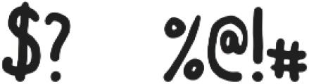 BadBoy otf (400) Font OTHER CHARS