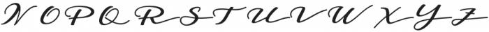 Badegan Calligraphy Regular otf (400) Font UPPERCASE