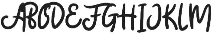Badger Script otf (400) Font UPPERCASE