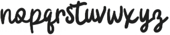 Badger Script otf (400) Font LOWERCASE