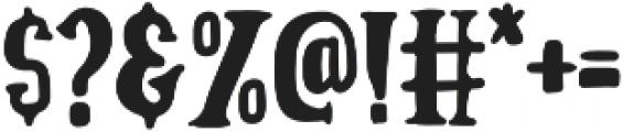 Badger otf (400) Font OTHER CHARS