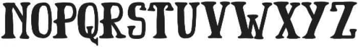 Badger otf (400) Font LOWERCASE