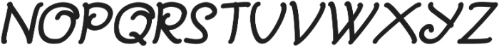 Bajama Italic otf (400) Font UPPERCASE