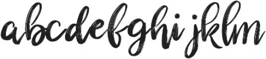 Bakehouse Regular otf (400) Font LOWERCASE