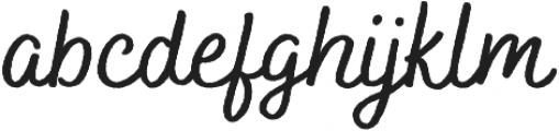 Bakerie Rough Wide Medium otf (500) Font LOWERCASE