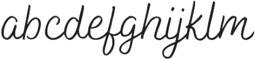 Bakerie Smooth Wide Light otf (300) Font LOWERCASE
