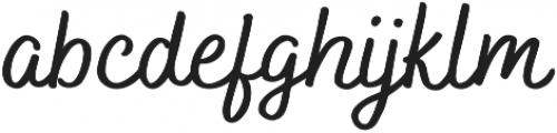Bakerie Smooth Wide Medium otf (500) Font LOWERCASE
