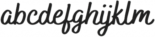 Bakerie Smooth Wide otf (700) Font LOWERCASE