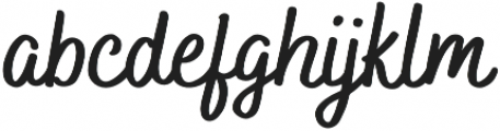 Bakerie Smooth otf (700) Font LOWERCASE