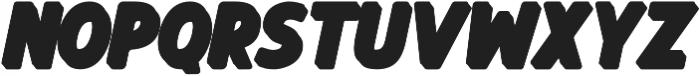Balbeer Extrude Italic otf (400) Font LOWERCASE