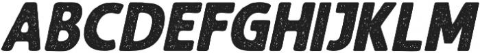Balbeer Rustic Italic otf (400) Font UPPERCASE