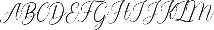 Balestya Medium otf (500) Font UPPERCASE
