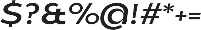 Balgin Regular SemiExpanded Italic otf (400) Font OTHER CHARS