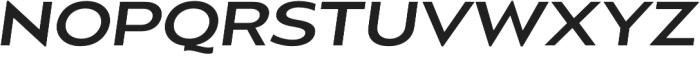 Balgin Regular SemiExpanded Italic otf (400) Font UPPERCASE