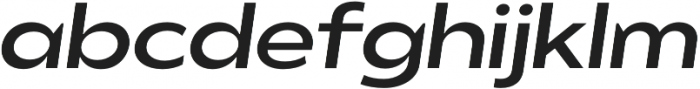 Balgin Regular SemiExpanded Italic otf (400) Font LOWERCASE