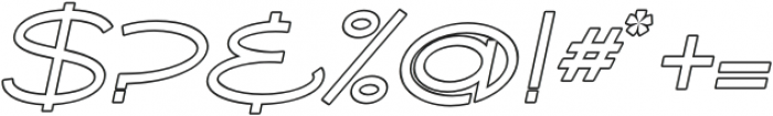 Ballado Outline 2 Italic otf (400) Font OTHER CHARS