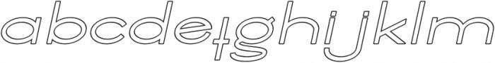 Ballado Outline 2 Italic otf (400) Font LOWERCASE
