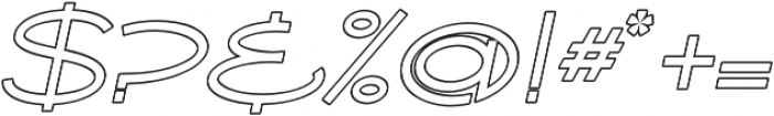 Ballado Outline 2 otf (400) Font OTHER CHARS
