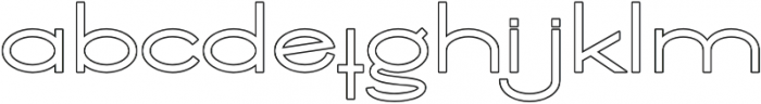 Ballado Outline ttf (400) Font LOWERCASE