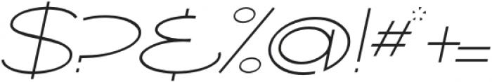 Ballado Thin 2 Italic otf (100) Font OTHER CHARS