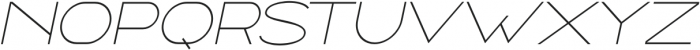 Ballado Thin 2 Italic otf (100) Font UPPERCASE