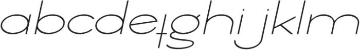 Ballado Thin 2 Italic otf (100) Font LOWERCASE