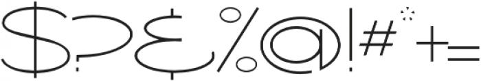 Ballado Thin ttf (100) Font OTHER CHARS