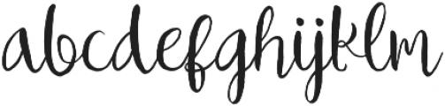 Ballarea Typeface otf (400) Font LOWERCASE