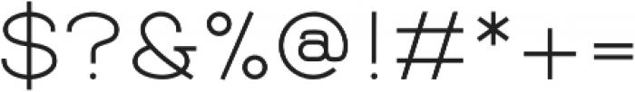 Balle Light otf (300) Font OTHER CHARS