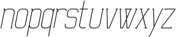 Ballege Light Oblique otf (300) Font LOWERCASE
