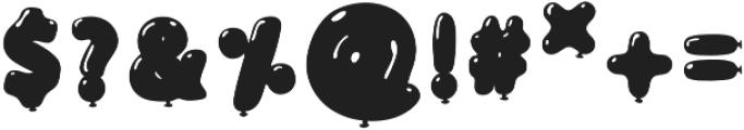 BalloonFlat Regular otf (400) Font OTHER CHARS