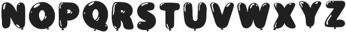 BalloonFlat Regular otf (400) Font LOWERCASE