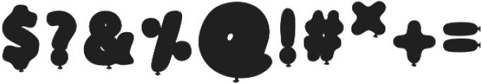 BalloonSilver Regular otf (400) Font OTHER CHARS