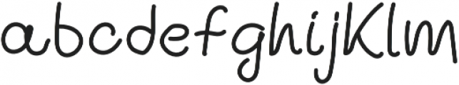Ballpen And Chalk 08 Regular otf (400) Font LOWERCASE